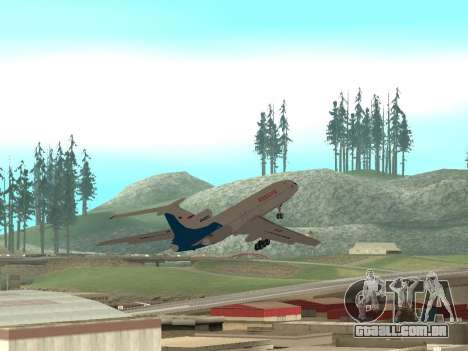 Tu-154 B-2 SCC da Rússia para GTA San Andreas vista superior