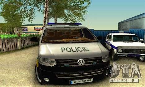 Volkswagen Transporter Policie para GTA San Andreas esquerda vista