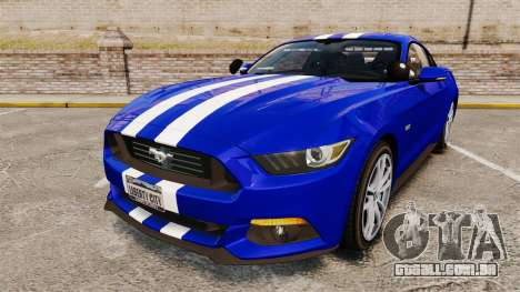 Ford Mustang GT 2015 Unmarked Police [ELS] para GTA 4