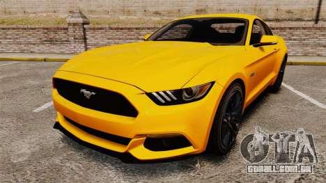 Ford Mustang GT 2015 v2.0 para GTA 4