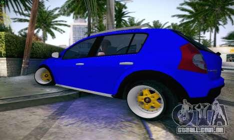 Dacia Sandero para GTA San Andreas esquerda vista