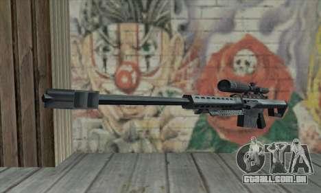 M82A1 Barret .50cal para GTA San Andreas