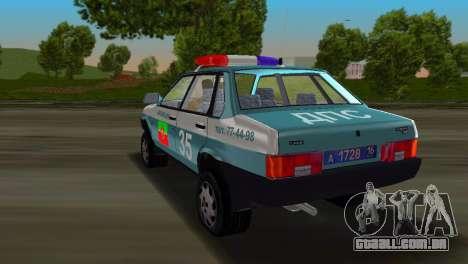 VAZ 21099 milícia para GTA Vice City deixou vista
