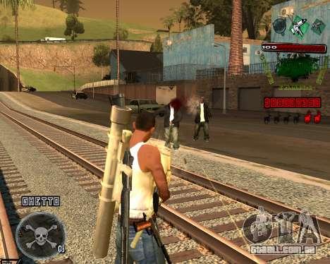 C-HUD Grove St para GTA San Andreas terceira tela