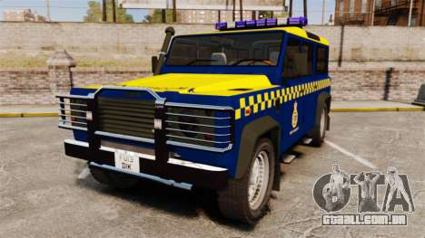 Land Rover Defender HM Coastguard [ELS] para GTA 4
