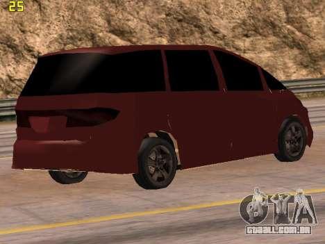 Toyota Estima 2wd para GTA San Andreas esquerda vista