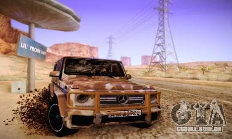 Mercedes Benz G65 Army Style para GTA San Andreas vista traseira