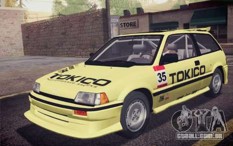 Honda Civic S 1986 IVF para as rodas de GTA San Andreas