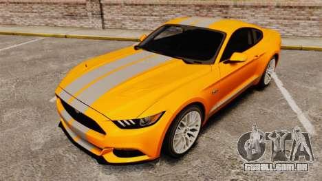 Ford Mustang GT 2015 v2.0 para GTA 4 vista lateral