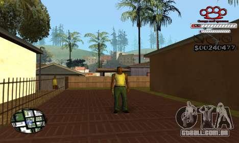 C-HUD Gangster by NickQuest para GTA San Andreas por diante tela