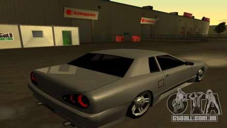 Elegy 280sx para GTA San Andreas traseira esquerda vista