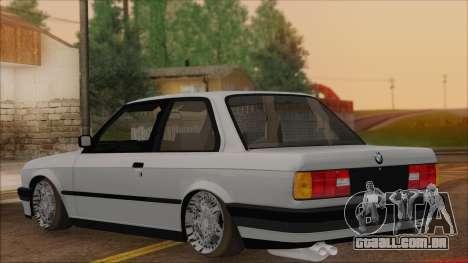 BMW M5 E30 para GTA San Andreas esquerda vista