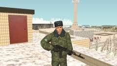Militar no inverno uniforme