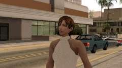 Menina vestido branco