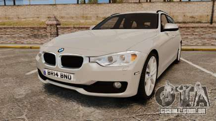BMW 330d Touring (F31) 2014 Unmarked Police ELS para GTA 4
