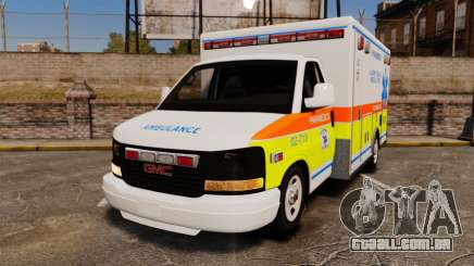 GMC Savana 2005 Ambulance [ELS] para GTA 4
