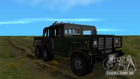 Patriot 6x6 para GTA Vice City vista traseira esquerda