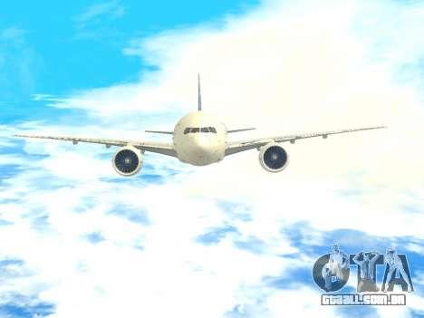 Boeing 777 LAN Cargo para GTA San Andreas vista superior