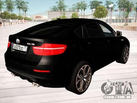 BMW X6M 2010 para GTA San Andreas