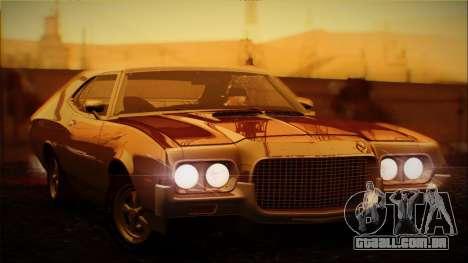 Ford Gran Torino De 1972 para GTA San Andreas vista interior