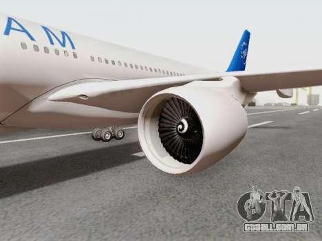 A330-202 China Eastern para GTA San Andreas vista direita