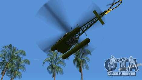 Bell 13H Sioux para GTA Vice City vista traseira