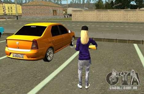 Pele De Avril Lavigne para GTA San Andreas terceira tela