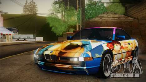BMW M8 Custom para GTA San Andreas vista interior