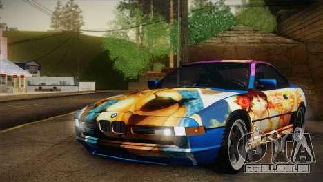 BMW M8 Custom para GTA San Andreas vista interior