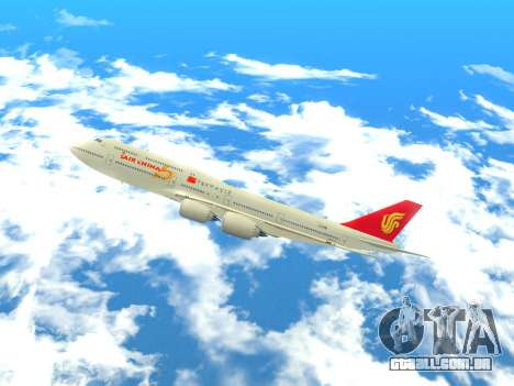 Boeing 747 Air China para GTA San Andreas esquerda vista