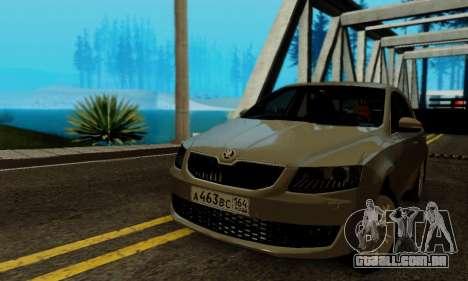 Skoda Octavia A7 para GTA San Andreas vista interior