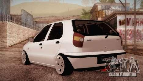 Fiat Palio BKModifiye para GTA San Andreas traseira esquerda vista