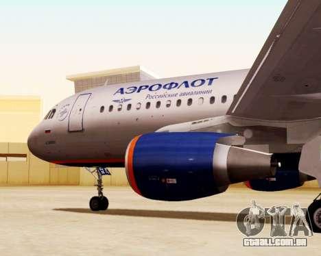 A Airbus A320-200 Tam Linhas Aereas para GTA San Andreas vista direita