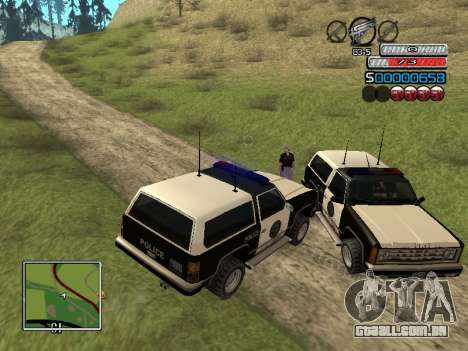 O novo C-HUD para GTA San Andreas sexta tela