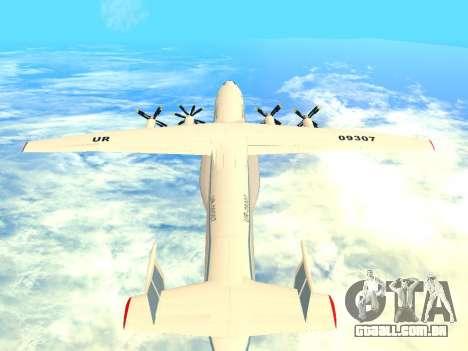 An-22 Antei para GTA San Andreas vista direita