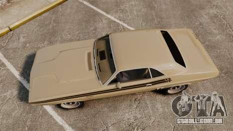 Dodge Challenger RT 1972 para GTA 4 vista direita