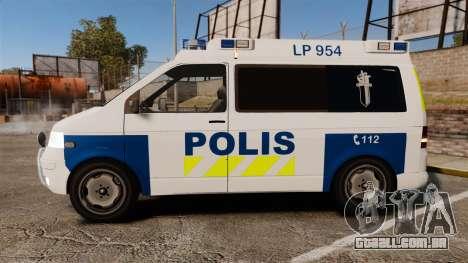 Volkswagen Transporter T5 TDI POLIISI [ELS] para GTA 4 esquerda vista
