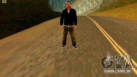 A nova textura Claude para GTA San Andreas