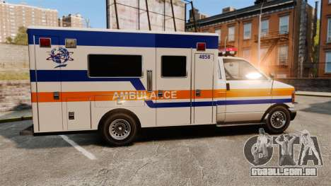 Brute CHMC Ambulance para GTA 4 esquerda vista