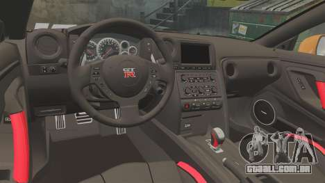 Nissan GT-R 2012 Black Edition NFS Underground para GTA 4 vista interior
