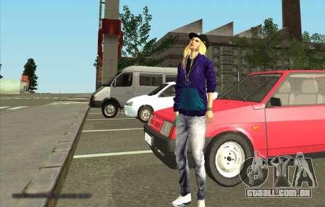 Pele De Avril Lavigne para GTA San Andreas segunda tela