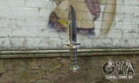 A faca de Stalker para GTA San Andreas segunda tela