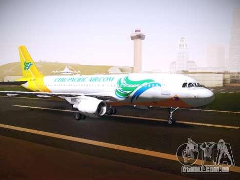 Airbus A320 Cebu Pacific Air para GTA San Andreas esquerda vista