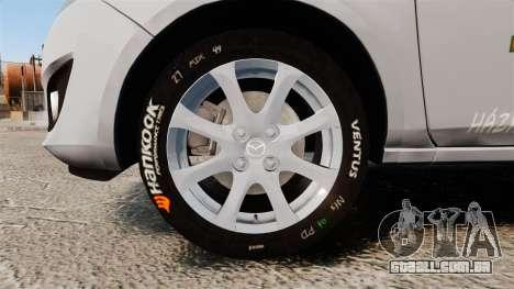 Mazda 2 Pizza Delivery 2011 para GTA 4 vista de volta