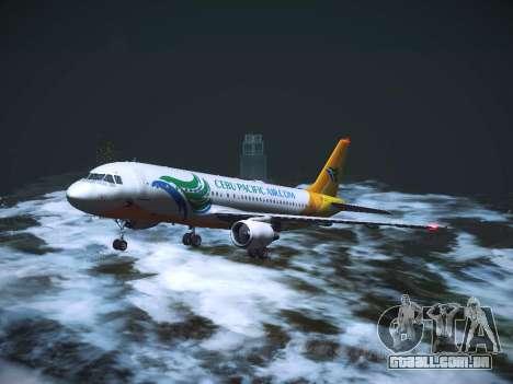 Airbus A320 Cebu Pacific Air para GTA San Andreas vista superior