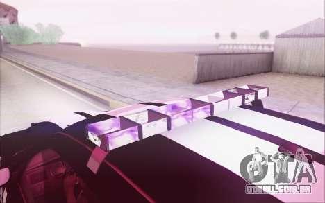 Dodge Charger SRT8 FBI Police para GTA San Andreas traseira esquerda vista