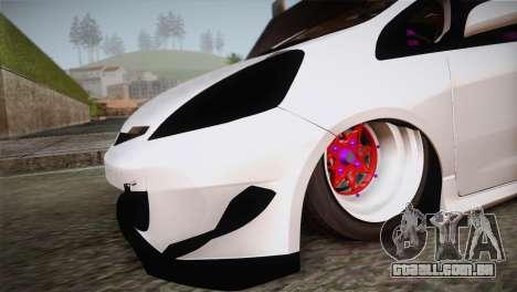 Honda Jazz RS Street Edition para GTA San Andreas vista direita