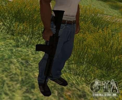 M4 CQB para GTA San Andreas quinto tela