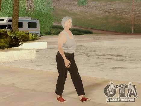 Mulher idosa para GTA San Andreas sétima tela