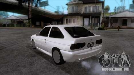 Ford Escort 1996 para GTA San Andreas traseira esquerda vista